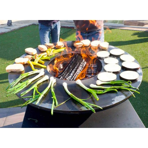 Barbecue a Legna con Piastra Cottura e Vano Porta Legna - Giorgione