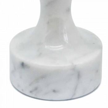 Batticarne Moderno in Marmo Bianco di Carrara Made in Italy - Daia