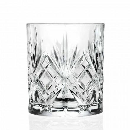 Bicchiere Double Old Fashioned, Stile Vintage Eco Cristallo 12 Pezzi - Cantabile