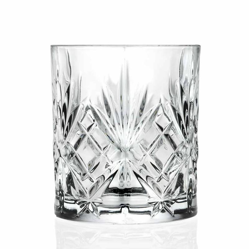 Bicchiere Double Old Fashioned Vintage Design Eco Cristallo 12 Pezzi - Cantabile