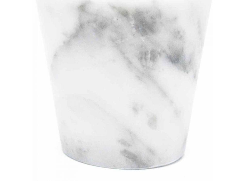 Bicchiere Grappa di Design in Marmo Bianco di Carrara Made in Italy - Fergie
