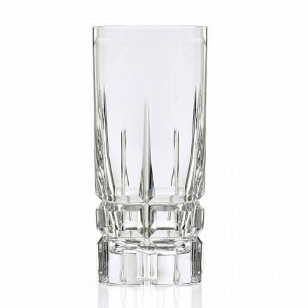 12 Bicchieri Highball da Cocktail Tumbler Alto in Cristallo Linea Lusso - Fiucco