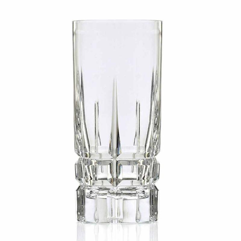 Bicchiere Highball da Cocktail Tumbler Alto 12 Pezzi in Eco Cristallo - Fiucco