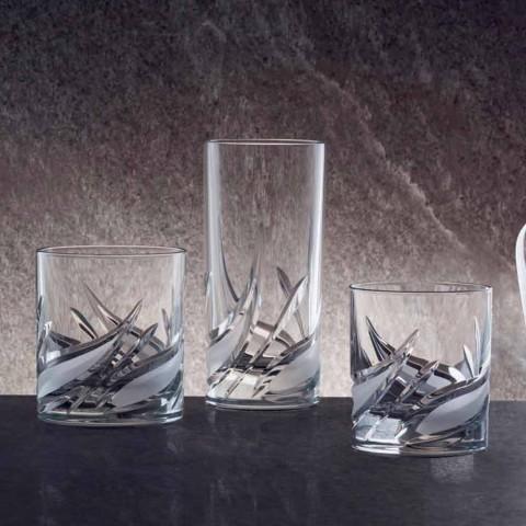 Bicchiere Highball Tumbler Alto Cocktail in Cristallo 12 Pezzi - Avvento