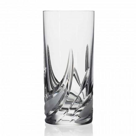 12 Bicchieri Highball Tumbler Alto Cocktail in Cristallo, Linea Lusso - Avvento