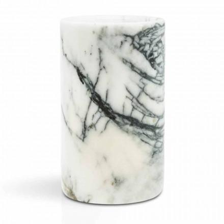 Bicchiere Porta Spazzolini di Design in Marmo Paonazzo Made in Italy - Limba