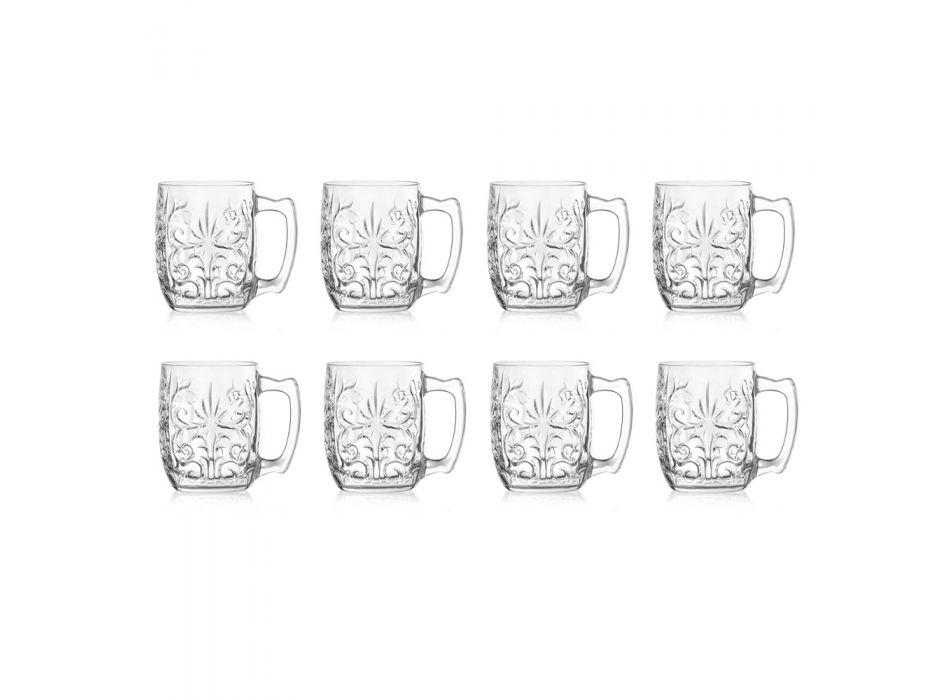 Bicchiere Tazza per Moscow Mule in Eco Cristallo Decorato 8 Pz - Destino