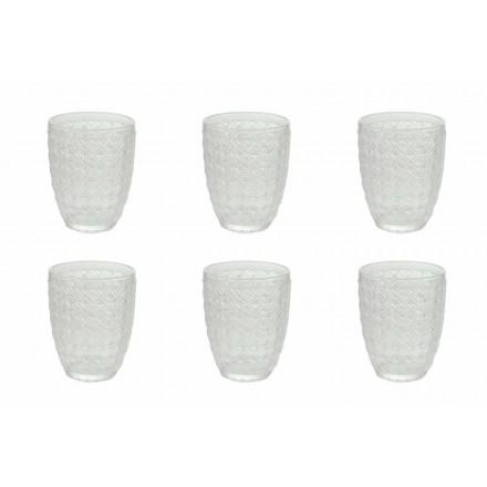 Bicchieri da Servizio 12 Pezzi in Vetro Trasparente per Acqua - Ottico