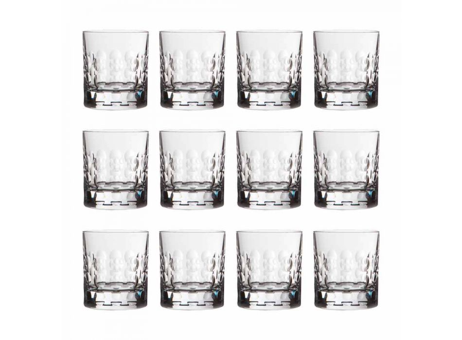 Bicchieri da Whisky Cristallo Double Old Fashioned 12 Pezzi - Titanioball