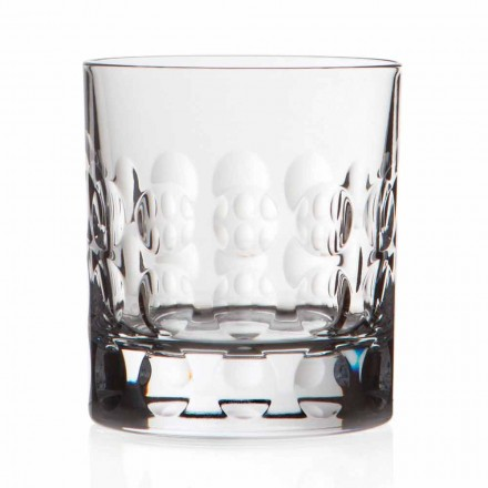 12 Bicchieri da Whisky Cristallo Double Old Fashioned, Linea Lusso - Titanioball
