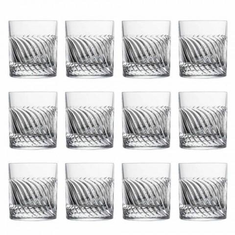 Bicchieri da Whisky Design Moderno in Cristallo Eco di Lusso 12 Pezzi - Aritmia