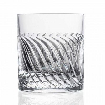 Bicchieri da Whisky Design DOF in Cristallo 12 Pezzi, Linea Lusso - Aritmia