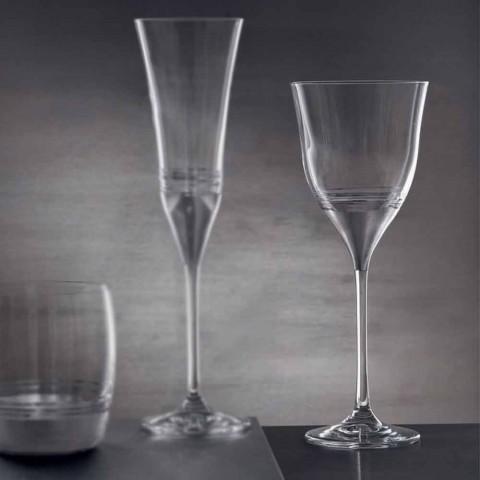 Bicchieri di Cristallo Calice Acqua in Bronzo Oro o Platino 12 Pezzi - Soffio