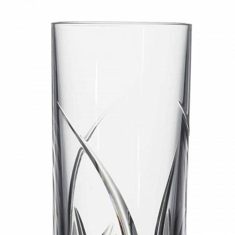 Bicchieri Highball Tumbler Alti Design di Lusso Decorato 12 Pezzi - Montecristo