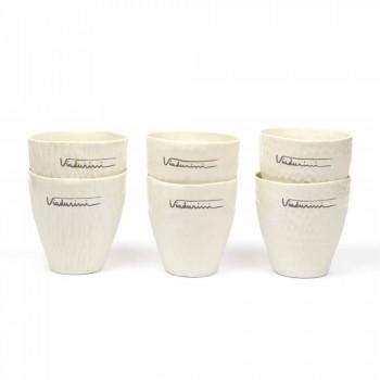 Bicchieri in Porcellana Bianca di Design di Lusso 6 Pezzi Unici - Arcireale