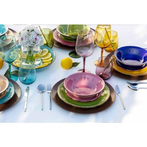 Bicchieri in Vetro Colorati per Acqua Servizio Moderno da 12 Pezzi - Aperi