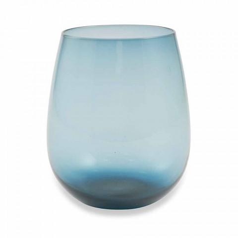 Bicchieri in Vetro Colorati per Acqua Servizio Moderno da 6 Pezzi - Aperi