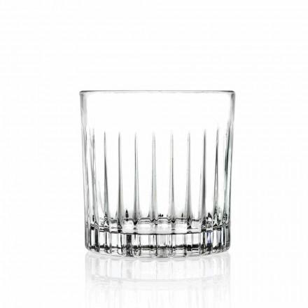 Bicchieri Lowball Tumbler Basso Old Fashioned per Cockatil 12 Pezzi - Senzatempo