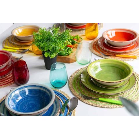 Bicchieri per Acqua in Vetro Moderni e Colorati Servizio da 12 Pezzi - Aperi