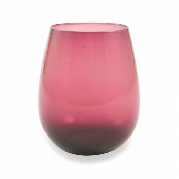Bicchieri per Acqua in Vetro Moderni e Colorati Servizio da 6 Pezzi - Aperi