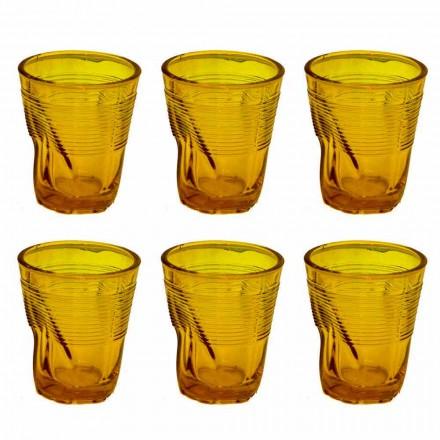 Bicchieri per Acqua Moderni in Vetro Colorato 12 Pezzi di Design - Sarabi
