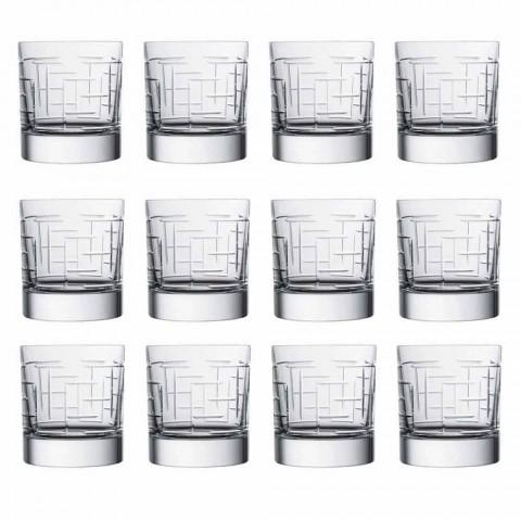 Bicchieri Scotch Whisky in Cristallo Design Moderno di Lusso 12 Pezzi - Aritmia