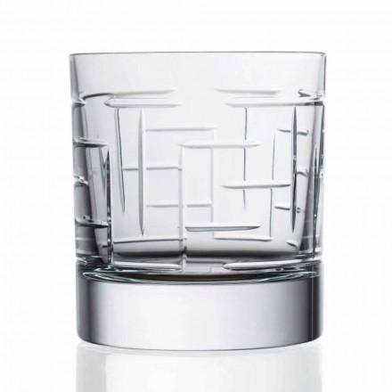 12 Bicchieri Scotch Whisky in Cristallo Double Old Fashion Linea Lusso - Aritmia