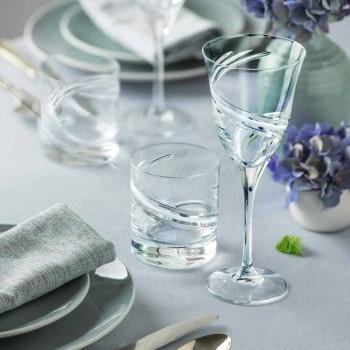 Bicchieri Tumbler Bassi in Eco Cristallo Decorato a Mano 12 Pezzi - Ciclone