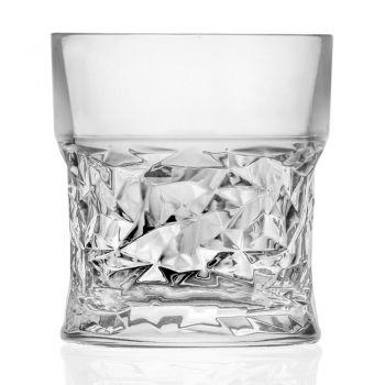 Bicchieri Tumbler Bassi in Eco Cristallo Decoro Squadrato 12 Pz - Ritmo