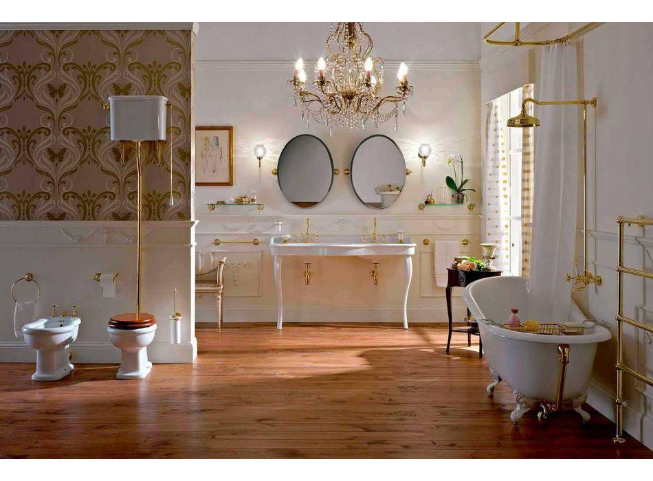 Bidet Classico da Terra di Design in Ceramica Bianca Made in Italy – Paulina