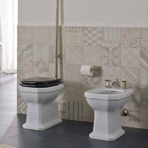Bidet da Terra Bianco in Ceramica Stile Vintage Made in Italy - Nausica