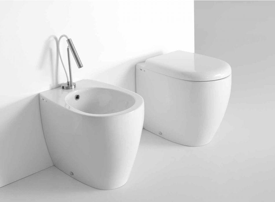 Bidet da Terra di Design Moderno in Ceramica Colorata Made in Italy – Lauretta