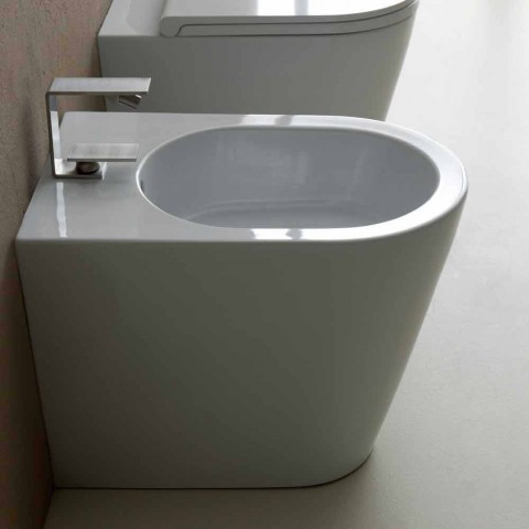 Bidet in ceramica 57x37cm design moderno Sun, made in Italy