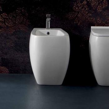Bidet in ceramica bianca dal design moderno Gais, fatto in Italia