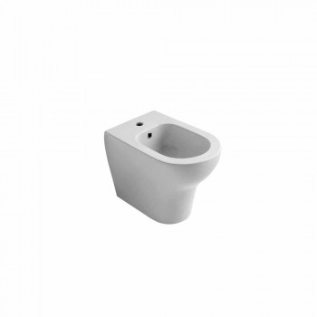 Bidet in ceramica bianca design moderno Star 54x35 cm, fatto in Italia