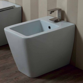 Bidet in ceramica bianco design moderno Sun 55x35 cm made in Italy