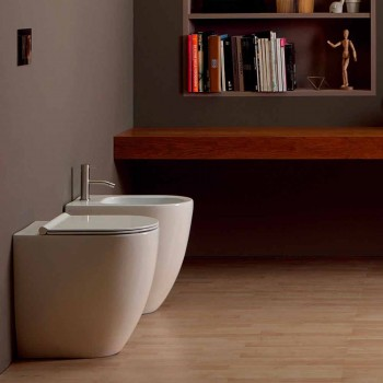 Bidet in ceramica design moderno Shine Square Open Rimless H50 cm