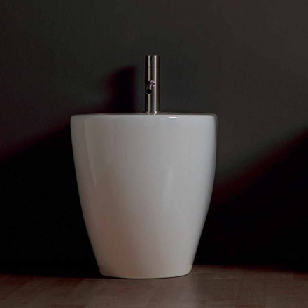 Bidet in ceramica moderno Shine Square Rimless 54x35cm made in Italy