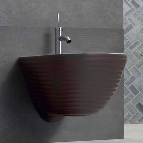 Bidet Sospeso di Design Made in Italy in Ceramica Trabia