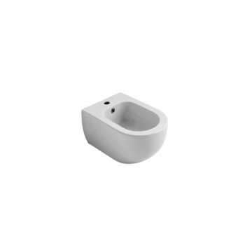 Bidet sospeso in ceramica design moderno Star 55x35cm made in Italy