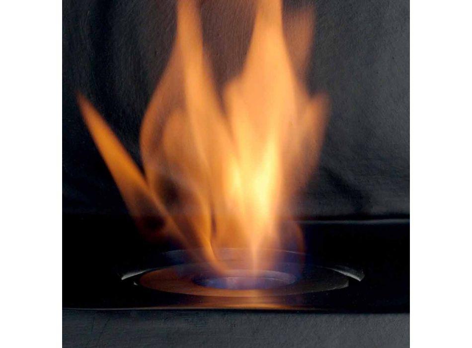 Biocamino da appoggio a bioetanolo in ceramica e acciaio Curtis