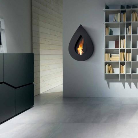Biocamino da parete moderno a bioetanolo a forma di fiamma Joseph