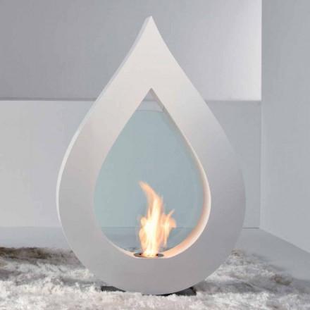 Biocamino da terra a bioetanolo, design moderno a forma di fiamma Todd