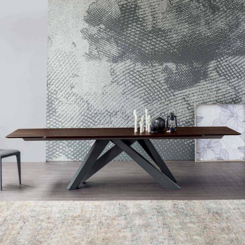 Bonaldo Big Table tavolo allungabile in legno di design made in Italy