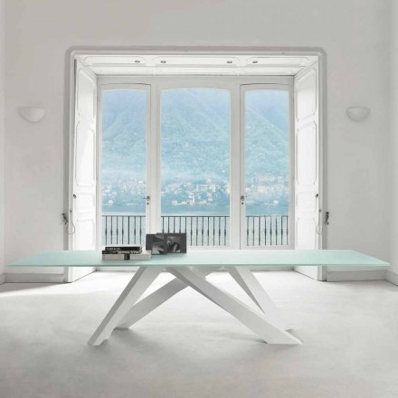 Bonaldo Big Table tavolo in cristallo extrachiaro di design made Italy