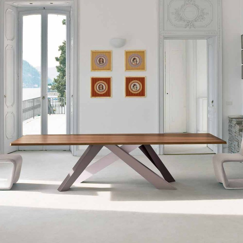 Bonaldo Big Table tavolo in legno impiallacciato di design made Italy