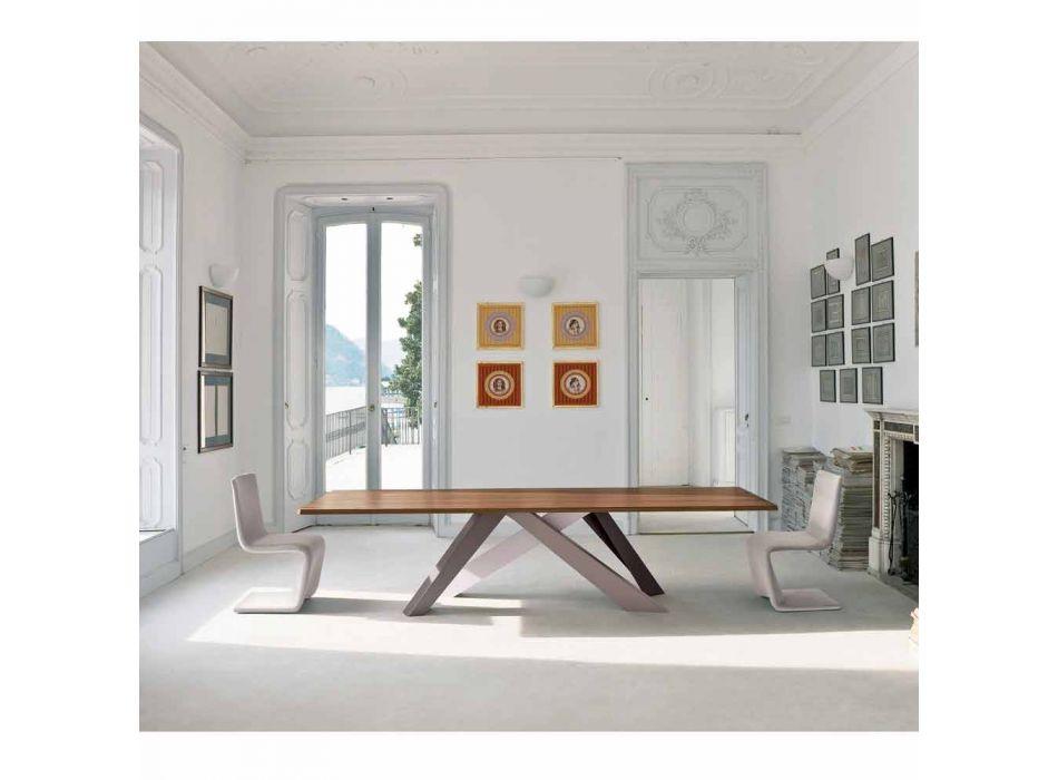 Bonaldo Big Table tavolo in legno impiallacciato di design made Italy