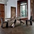 Bonaldo Big Table tavolo in legno massello bordi naturali made Italy