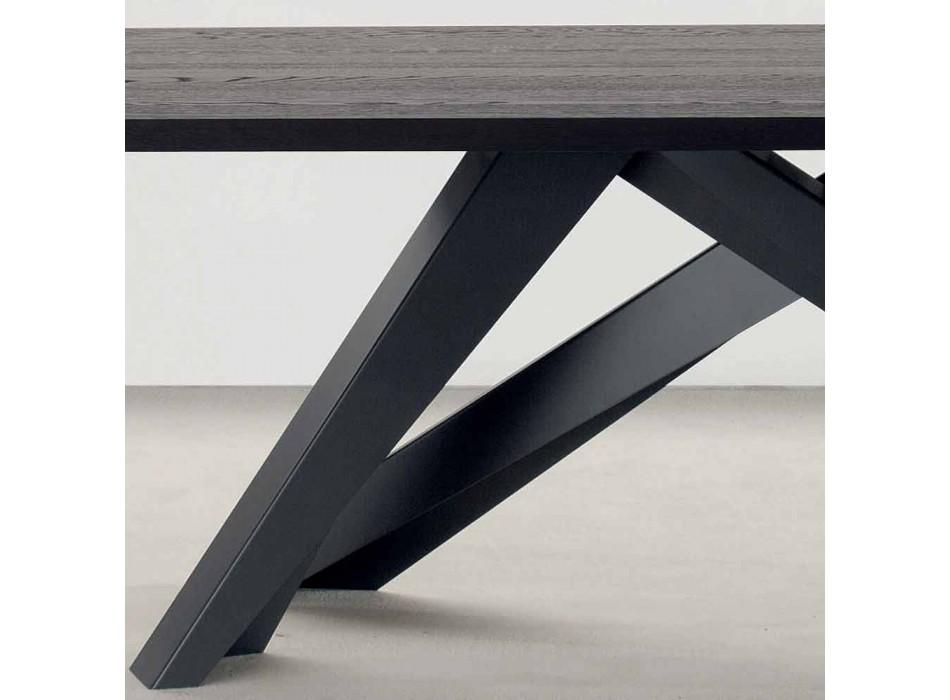 Bonaldo Big Table tavolo in legno massello grigio antracite made Italy