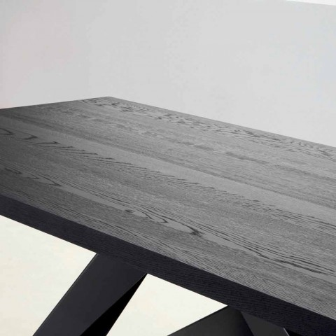 Bonaldo Big Table tavolo in legno massello grigio antracite made Italy